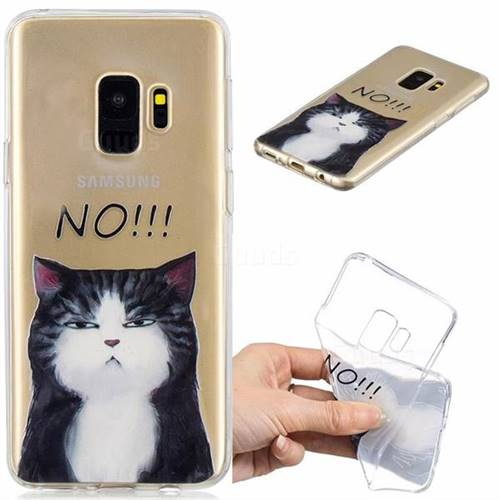 No Cat Clear Varnish Soft Phone Back Cover for Samsung Galaxy S9