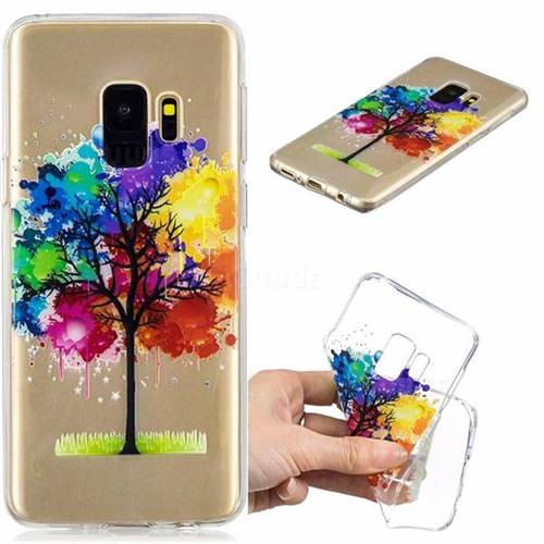 Oil Painting Tree Clear Varnish Soft Phone Back Cover for Samsung Galaxy S9