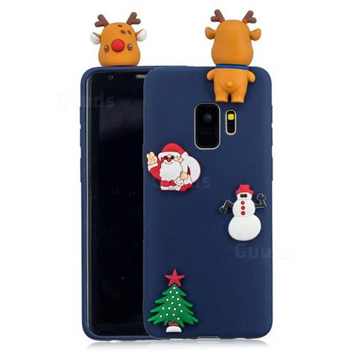 Navy Elk Christmas Xmax Soft 3D Silicone Case for Samsung Galaxy S9