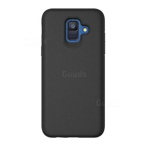 Triangle Texture Shockproof Hybrid Rugged Armor Defender Phone Case for Samsung Galaxy S9 - Black