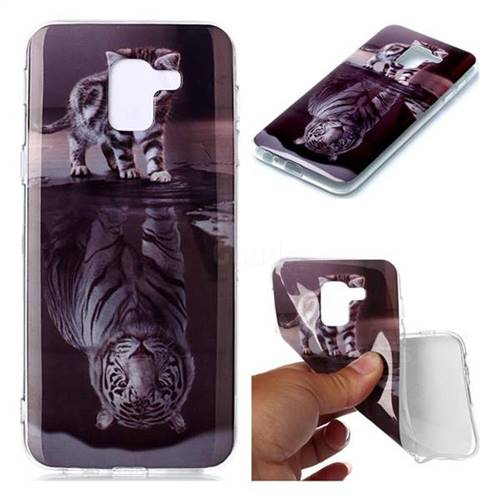Cat and Tiger Soft TPU Cell Phone Back Cover for Samsung Galaxy S9