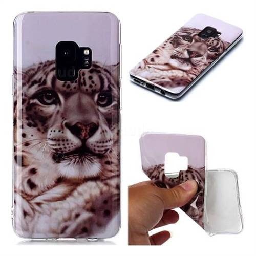 White Leopard Soft TPU Cell Phone Back Cover for Samsung Galaxy S9