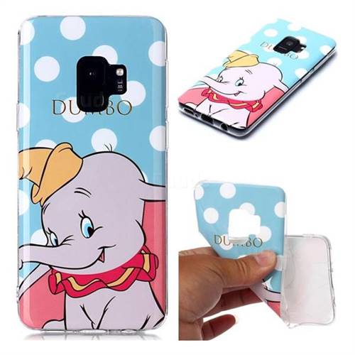Dumbo Elephant Soft TPU Cell Phone Back Cover for Samsung Galaxy S9