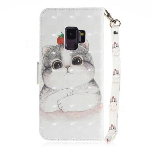 check out cbde0 3665e Cute Tomato Cat 3D Painted Leather Wallet Phone Case for Samsung Galaxy S9