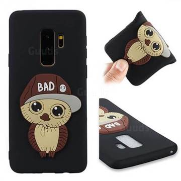 Bad Boy Owl Soft 3D Silicone Case for Samsung Galaxy S9 Plus(S9+) - Black