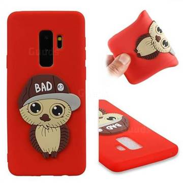 Bad Boy Owl Soft 3D Silicone Case for Samsung Galaxy S9 Plus(S9+) - Red