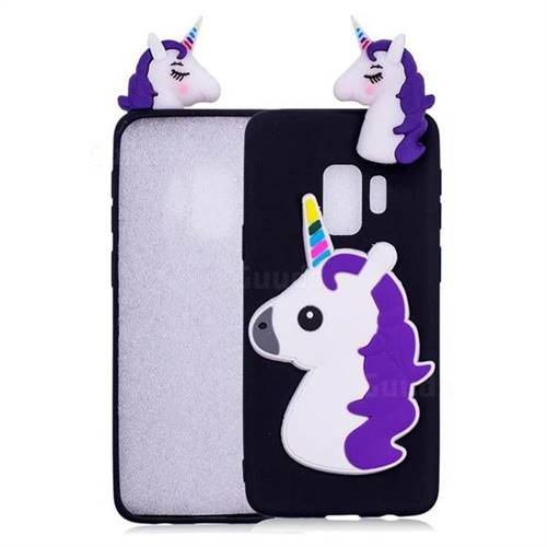 Unicorn Soft 3D Silicone Case for Samsung Galaxy S9 Plus(S9+) - Black