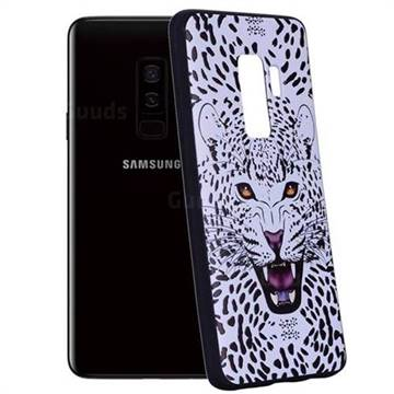 Snow Leopard 3D Embossed Relief Black Soft Back Cover for Samsung Galaxy S9 Plus(S9+)