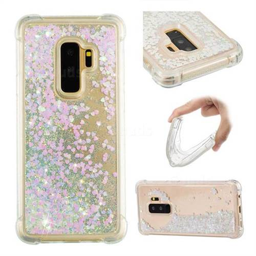 Dynamic Liquid Glitter Sand Quicksand Star TPU Case for Samsung Galaxy S9 Plus(S9+) - Pink