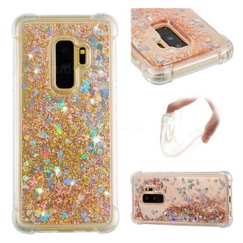 Dynamic Liquid Glitter Sand Quicksand Star TPU Case for Samsung Galaxy S9 Plus(S9+) - Diamond Gold