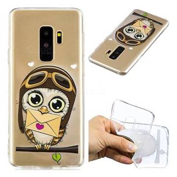 Envelope Owl Super Clear Soft TPU Back Cover for Samsung Galaxy S9 Plus(S9+)