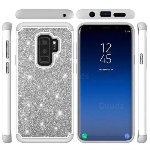 sneakers for cheap d4991 e882c Glitter Rhinestone Bling Shock Absorbing Hybrid Defender Rugged Phone Case  Cover for Samsung Galaxy S9 Plus(S9+) - Gray