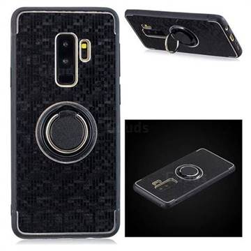 online store f55b4 df01a Luxury Mosaic Metal Silicone Invisible Ring Holder Soft Phone Case for  Samsung Galaxy S9 Plus(S9+) - Black - TPU Case - Guuds