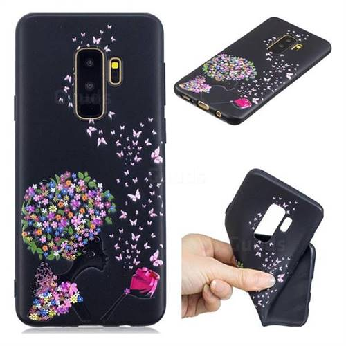 best website 66ee8 38e53 Corolla Girl 3D Embossed Relief Black TPU Cell Phone Back Cover for Samsung  Galaxy S9 Plus(S9+)