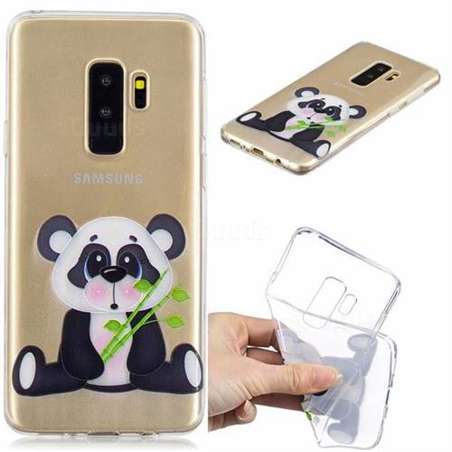 Bamboo Panda Clear Varnish Soft Phone Back Cover for Samsung Galaxy S9 Plus(S9+)