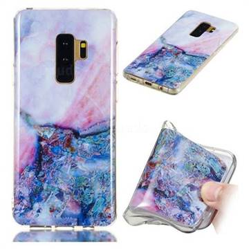 Purple Amber Soft TPU Marble Pattern Phone Case for Samsung Galaxy S9 Plus(S9+)