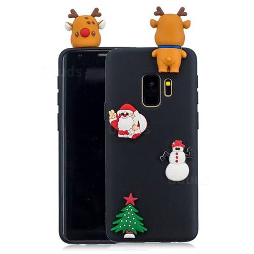 Black Elk Christmas Xmax Soft 3D Silicone Case for Samsung Galaxy S9 Plus(S9+)