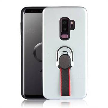Raytheon Multi-function Ribbon Stand Back Cover for Samsung Galaxy S9  Plus(S9+) - Silver