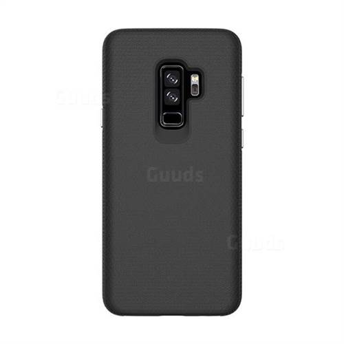 timeless design 37e01 5b655 Triangle Texture Shockproof Hybrid Rugged Armor Defender Phone Case for  Samsung Galaxy S9 Plus(S9+) - Black