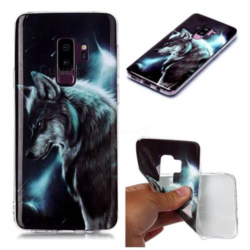 Fierce Wolf Soft TPU Cell Phone Back Cover for Samsung Galaxy S9 Plus(S9+)
