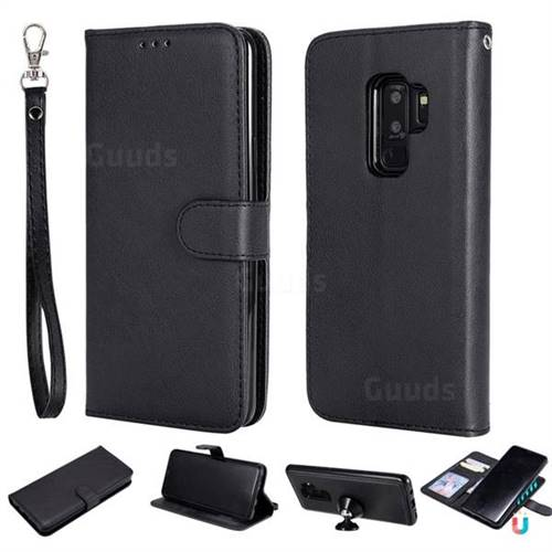 finest selection a919c 83609 Retro Greek Detachable Magnetic PU Leather Wallet Phone Case for Samsung  Galaxy S9 Plus(S9+) - Black