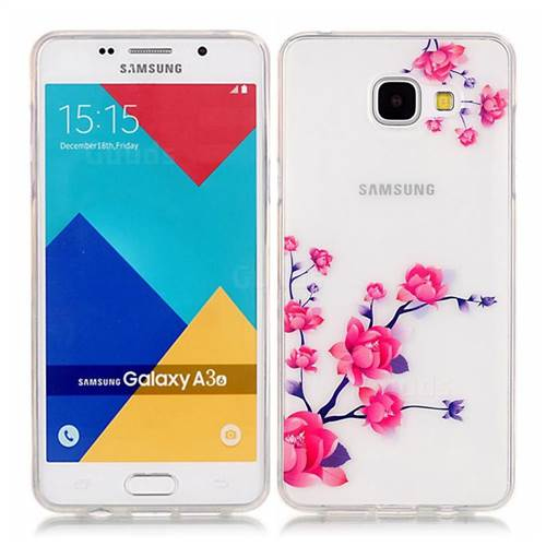 quality design 3383e d87bb Peach Blossom High Transparent Soft TPU Back Cover for Samsung Galaxy A3  2016 A310