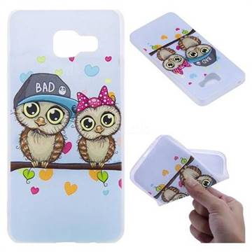 Couple Owls 3D Relief Matte Soft TPU Back Cover for Samsung Galaxy A3 2016 A310