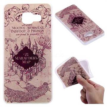 Castle The Marauders Map 3D Relief Matte Soft TPU Back Cover for Samsung Galaxy A3 2016 A310