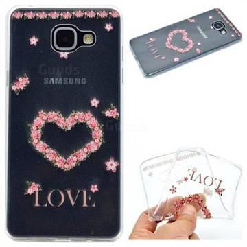 Heart Garland Super Clear Soft TPU Back Cover for Samsung Galaxy A3 2016 A310