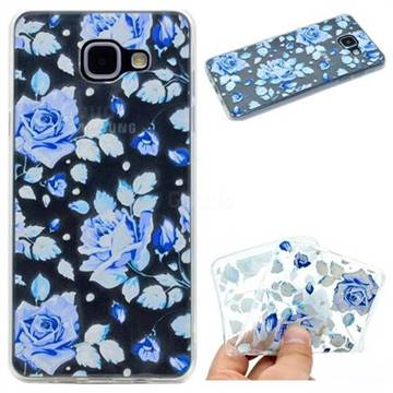 Ice Rose Super Clear Soft TPU Back Cover for Samsung Galaxy A3 2016 A310