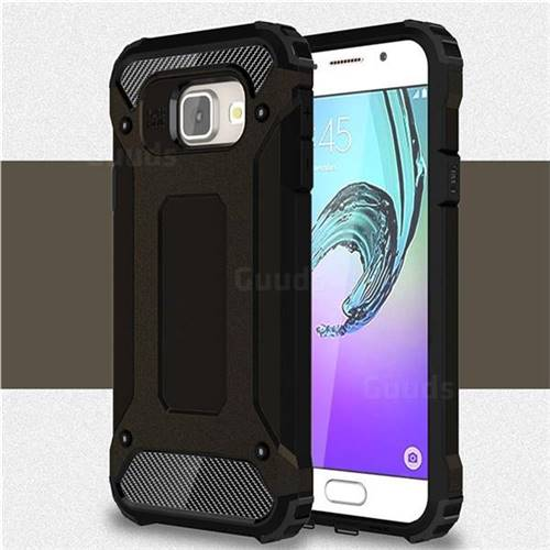 King Kong Armor Premium Shockproof Dual Layer Rugged Hard Cover for Samsung Galaxy A3 2016 A310 - Black Gold