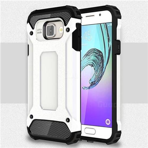 King Kong Armor Premium Shockproof Dual Layer Rugged Hard Cover for Samsung Galaxy A3 2016 A310 - White