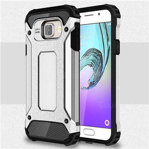 King Kong Armor Premium Shockproof Dual Layer Rugged Hard Cover for Samsung Galaxy A3 2016 A310 - Technology Silver
