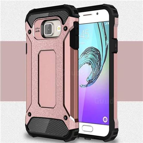 King Kong Armor Premium Shockproof Dual Layer Rugged Hard Cover for Samsung Galaxy A3 2016 A310 - Rose Gold