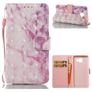 Pink Marble 3D Painted Leather Wallet Case for Samsung Galaxy A3 2016 A310
