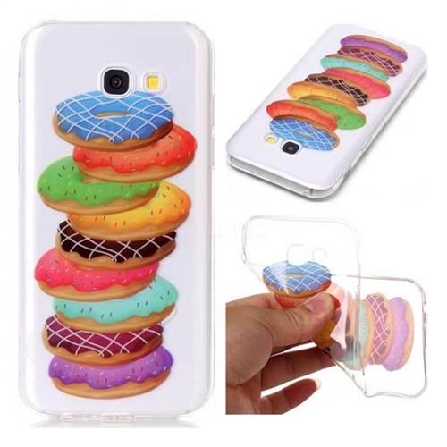 Melaleuca Donuts Super Clear Soft TPU Back Cover for Samsung Galaxy A3 2017 A320