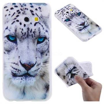 White Leopard 3D Relief Matte Soft TPU Back Cover for Samsung Galaxy A3 2017 A320