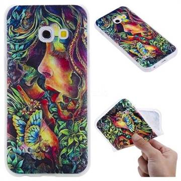 Butterfly Kiss 3D Relief Matte Soft TPU Back Cover for Samsung Galaxy A3 2017 A320