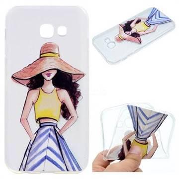 Summer Girl Super Clear Soft TPU Back Cover for Samsung Galaxy A3 2017 A320