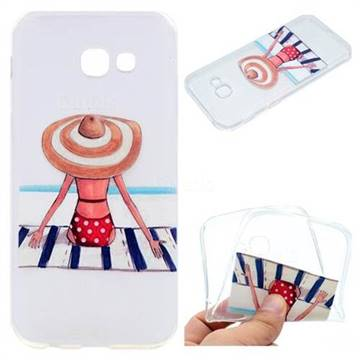 Beach Chair Girl Super Clear Soft TPU Back Cover for Samsung Galaxy A3 2017 A320