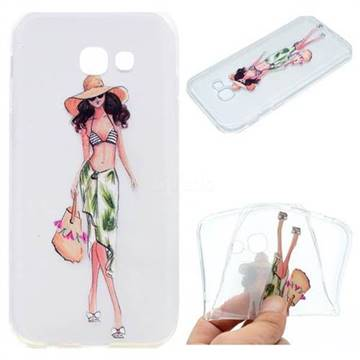 Bikini Girl Super Clear Soft TPU Back Cover for Samsung Galaxy A3 2017 A320