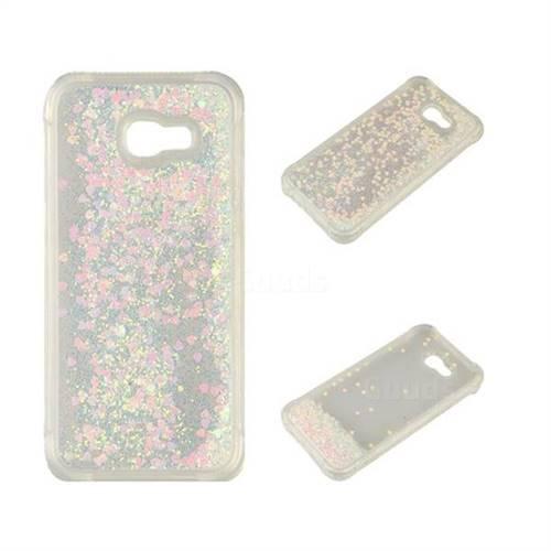 Dynamic Liquid Glitter Sand Quicksand Star TPU Case for Samsung Galaxy A3 2017 A320 - Pink