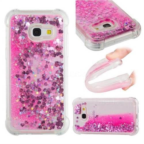 Dynamic Liquid Glitter Sand Quicksand TPU Case for Samsung Galaxy A3 2017 A320 - Pink Love Heart