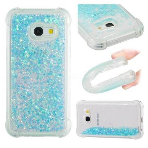 Dynamic Liquid Glitter Sand Quicksand TPU Case for Samsung Galaxy A3 2017 A320 - Silver Blue Star
