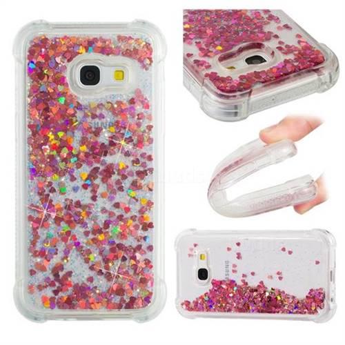 Dynamic Liquid Glitter Sand Quicksand TPU Case for Samsung Galaxy A3 2017 A320 - Rose Gold Love Heart