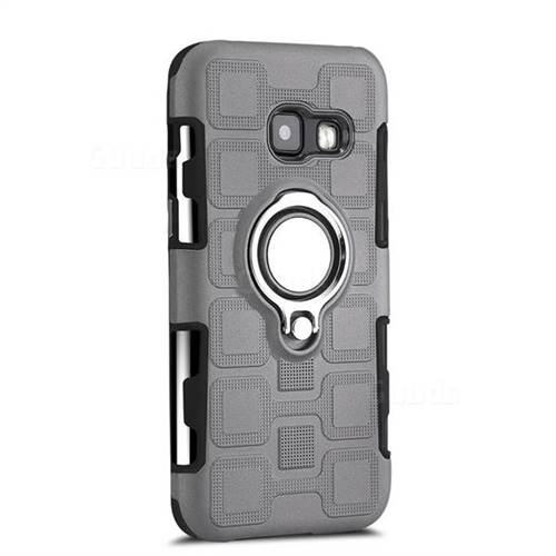 lowest price 6fb08 442c5 Ice Cube Shockproof PC + Silicon Invisible Ring Holder Phone Case for  Samsung Galaxy A3 2017 A320 - Gray