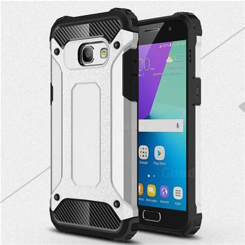 King Kong Armor Premium Shockproof Dual Layer Rugged Hard Cover for Samsung Galaxy A3 2017 A320 - Technology Silver
