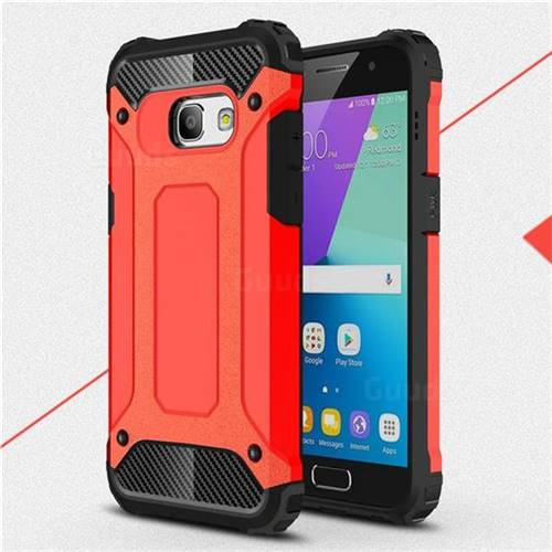 King Kong Armor Premium Shockproof Dual Layer Rugged Hard Cover for Samsung Galaxy A3 2017 A320 - Big Red
