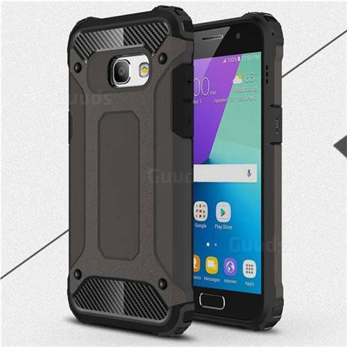 King Kong Armor Premium Shockproof Dual Layer Rugged Hard Cover for Samsung Galaxy A3 2017 A320 - Bronze