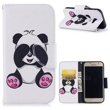 Lovely Panda Leather Wallet Case for Samsung Galaxy A3 2017 A320